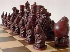 Lovely collectors alice in wonderland Chess Set chessmen game pieces-complete