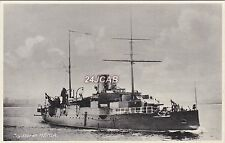 "Royal Danish Navy Real Photo."" Hekla"" Cruiser then Submarine Tender. c 1900"