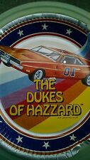 "(1) Vintage Dukes of Hazzard General Lee Car 9"" Paper Plate Printed 1981"
