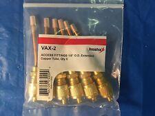 """DiversiTech Vax-2 Access Fittings 1/8"""" O.D. pk 6"""