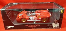FERRARI 512 S NICK MASON PINK FLOYD ELITE #512 1/18 MODEL CAR BY HOTWHEELS T6253