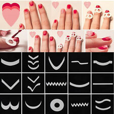 15 Style/Set French Manicure Nail Art Tips Form Guide Sticker Polish DIY Stencil