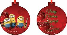 Personalized Minions Ornament ( Add Any Message You Want)