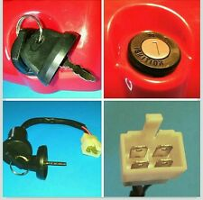 Baja Ignition Key Switch Baja Part# WD90S-481 Atv Quad 4 Wheeler 4 wire 2 keys