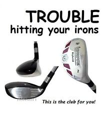 iDRIVE RESCUE Hybrid made STIFF Flex taylor fit #2H Iron Wood 16° STEEL SHAFT S