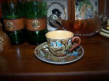 CUP AND SAUCER/OCUPIED JAPAN.VERY DECOREATED