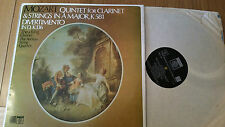 MOZART QUINTET FOR CLARINET A MAJOR K581 THEA KING AEOLIAN STRING QUAR  - LP