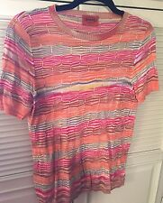 Missoni Women's Size Small Multi Color Top Cotton/Rayon Made in Italy