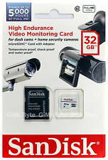 SanDisk 32GB High Endurance micro SD SDHC Class 10 Memory Card for Dash Cams 32G