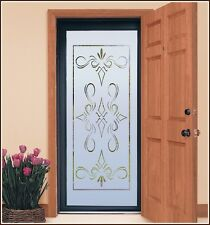 New SOUTH BEACH 32x74 Semi Privacy Etched Glass Decorative Window & Door Film