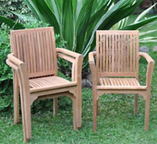 "Balitique Teak Stacking Armchair "" Sale Price """