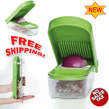Onion Slicer Dicer Veggie Chopper Cutter Kitchen Food Tool Container Fruit NEW