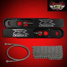 "FTD Customs 2004 GSXR 600 SWINGARM EXTENSIONS 12"" Long,Chain & 36"" Brake Line"