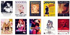 Madonna Concert Posters Trading Card Set