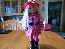 Battat  DOLL blond hair and blue eyes in leggings/coat/hat/bag/boots  GREAT!!!!!
