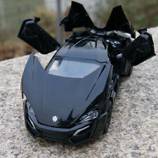 Model Cars Lykan Hypersport 1:32 Alloy Diecast  Black Toys Collection & Gifts