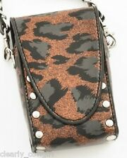 #8404 -- WESTERN COWGIRL BLACK BRONZE ANIMAL PRINT CELL PHONE HOLDER -WOW!