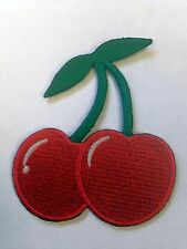 Iron On/ Sew On Embroidered Patch Badge Cherries Cherrys Fruit Machine Gamble