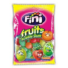 FINI Fruits Shaped Fruit Flavor Bubble Gum Lemon Watermelon Orange 90g 3.2oz