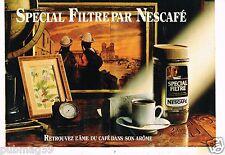 Publicité advertising 1982 (2 pages) Café Nescafé spécial Filtre
