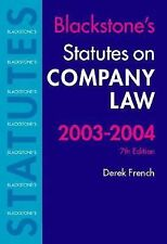 Statutes on Company Law 2003-2004 (Blackstone's Statute Book Series)