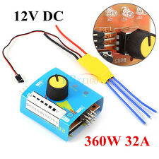 360W 32A 12V DC Brushless Motor Drive Speed Regulator PWM Controller Switch