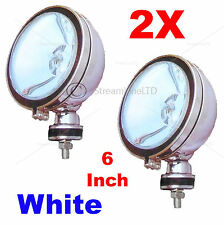 "PAIR 2X 6"" Inch H3 WHITE Angeleye Halogen Car Van Spotlights Spot Fog Light Lamp"