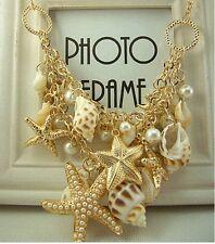 Hot Fashion Charm Women Pearl Chain Pendant Choker Statement Collar Bib Necklace