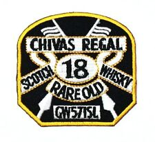 Chivas Regal Scotch 18 Whisky rare Old Scotland Blended Embroidered Iron Patch