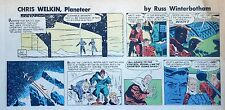 Chris Welkin Planeteer by Art Sansom - scarce Sunday comic page - Nov. 4, 1956