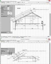 Abbund Dachstuhl Excelprogramm, Kehlbalkendach