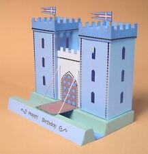 A4 Card Making Templates for 3D Opening Castle & Display Box by Card Carousel