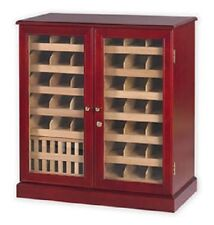1500 Cigar Humidor Commercial Display Case Cherry Finish Cabinet up to 75 boxes