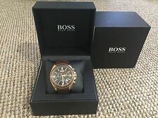 Hugo Boss 1513093 Men's Brown Chronograph Watch With Box and Original Receipt