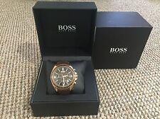Hugo BOSS 1513093 Uomo Marrone Orologio Cronografo con scatola e scontrino ORIGINALE