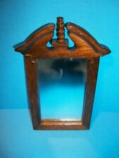 New Concord Miniatures Doll House Furniture Mirror Cherry Dresser Wall Decor