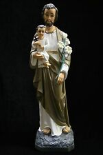 Saint St Joseph with Holy Child Jesus Statue Sculpture Catholic Made in Italy