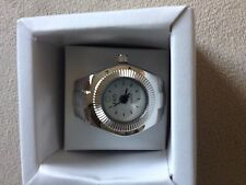 Silver Finger Ring Watch-New-USA Vendor