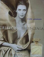 PUBLICITE BALENCIAGA PARFUM CRISTOBAL DE 2001 FRENCH AD PUB ADVERTISING