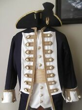 Custom Made 4pc.Colonial uniform coat vest shirt breeches