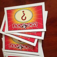 """Monopoly jeu complet de """"chance"""" cartes. véritable waddingtons pièces."""