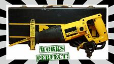 DEWALT DW305 RECIPROCAL SAW - CORDED with carrying case and blades