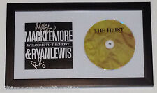 MACKLEMORE & RYAN LEWIS SIGNED FRAMED AUTHENTIC CD COVER BOOKLET w/COA THE HEIST