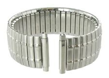 18-22mm Speidel Twist-O-Flex Stainless Silver Tone Metal Watch Band 1393/02L
