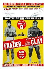 Muhammad Ali vs Joe Frazier POSTER BOXING 1971 Heavyweight Championship Fight