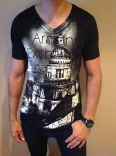 NEW MENS ARMANI EXCHANGE T SHIRT BODY TIGHT SLIM FIT BLACK LARGE EXCLUSIVE