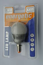 Pack 6 x Energetic 3w E14 LED G45 Mini Globe Opal Golfball Bulb Warm White 110lm