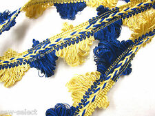 3.6mts Blue & yellow gold fan edge trimming 4cm Curtain fabric trim