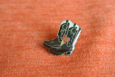 18033 PIN'S PINS BOTTES COWBOY WESTERN COUNTRY BOOTS LONE STAR BROWN