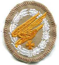 WWII Luftwaffe Fallschirmjager Paratrooper Badge Tropical Afrika Patch Whit/Gold